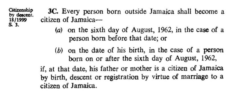 jamaican citizenship