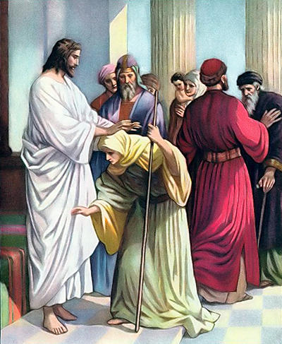 Image result for jesus heals the old woman