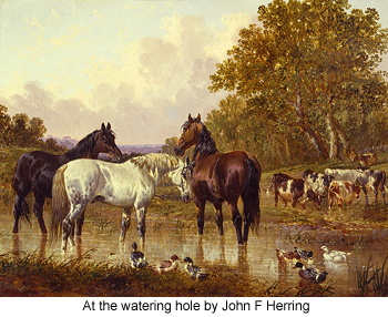 At the watering hole by John F Herring