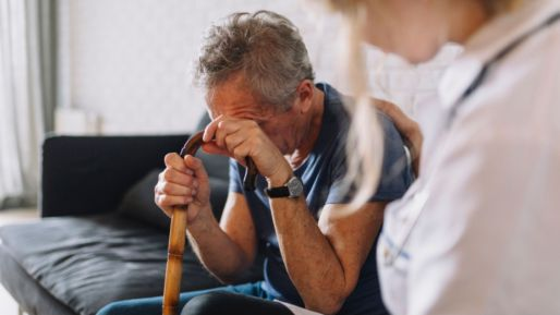 How does vitamin B12 deficiency cause harm to older people?