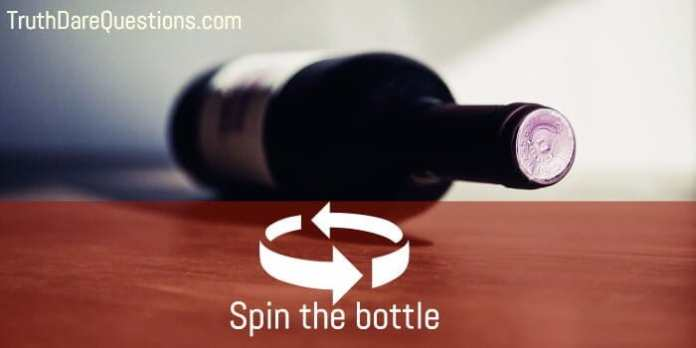Spin the bottle and pick the participant where it stops