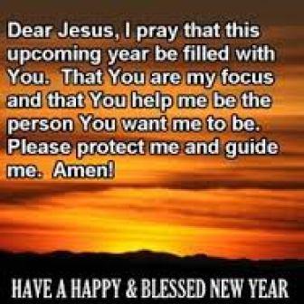 New year prayer to Jesus