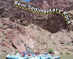 Bent sedimentary rock layer