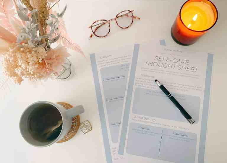 Self care thought sheet