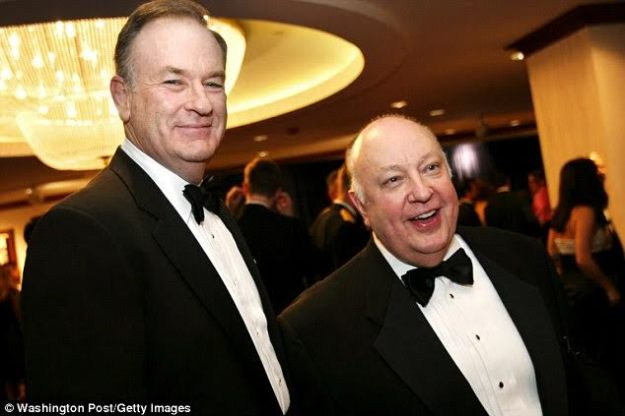 Bill O'Reilly (left) with Roger Ailes (right)