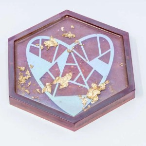 Treasured heart coaster