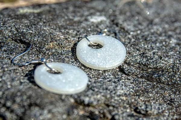 Precious Pearl Circle Earrings