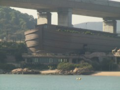 Noah's Ark in Hong Kong from a ferry boat