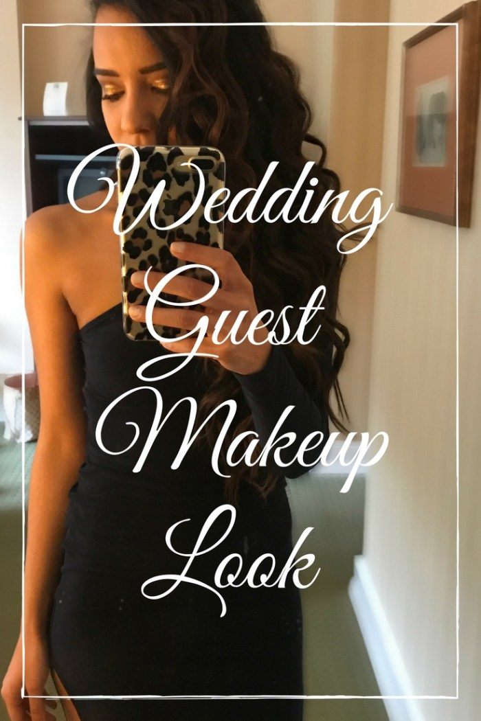 Wedding Guest Makeup Look. All the details to get this glittery eyeshadow look.