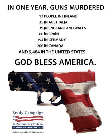 US gun death stats