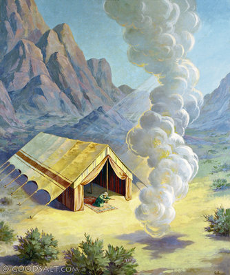 When the Israelites saw the pillar of cloud at the entrance to the tent they would stand up then bow down and worship from the door of their tents. & Exodus Chapter 33 - Truth Snitch
