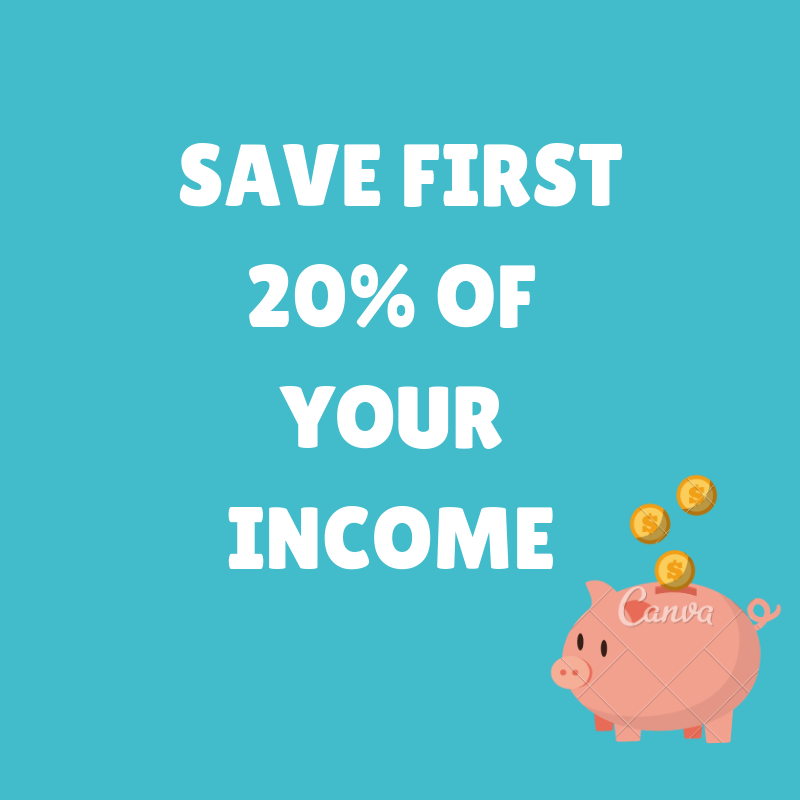 save 20% of your net income