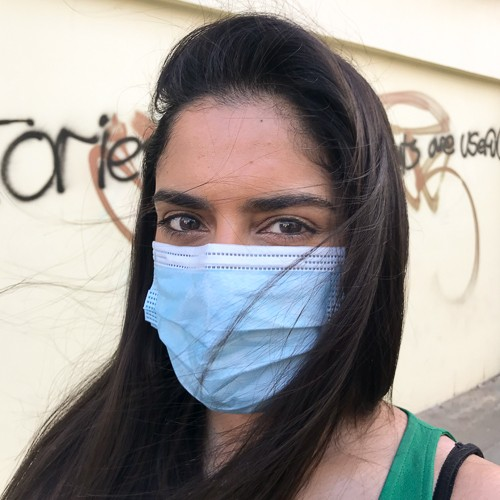 Photo of Ria Chatterjee - Reporter, ITV News wearing a COVID mask
