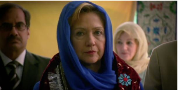 Hillary Wears Hijab In Campaign Ad (Video)