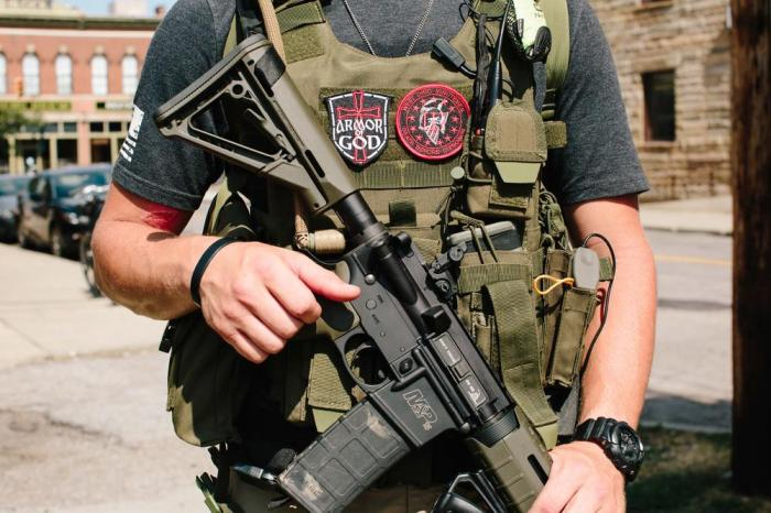 This Militia Group Walked Around The RNC With AR-15s, AK-47s, And G3s (Video)