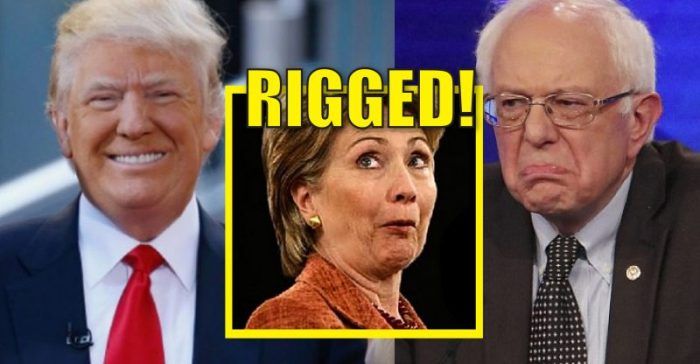 """Bernie Sanders Supporters """"The System is Rigged – NEVER HILLARY!"""""""