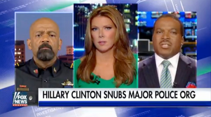Sheriff Clarke: Hillary Showing 'Utter Contempt' For Police (Video)