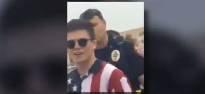 Students NOT Allowed To Bring American Flags Into Football Game (Video)