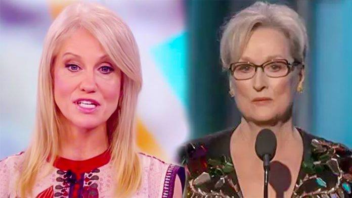 Kellyanne Conway Forced Streep To Eat Every Trump-Hating Lie She Told At Golden Globe (Video)