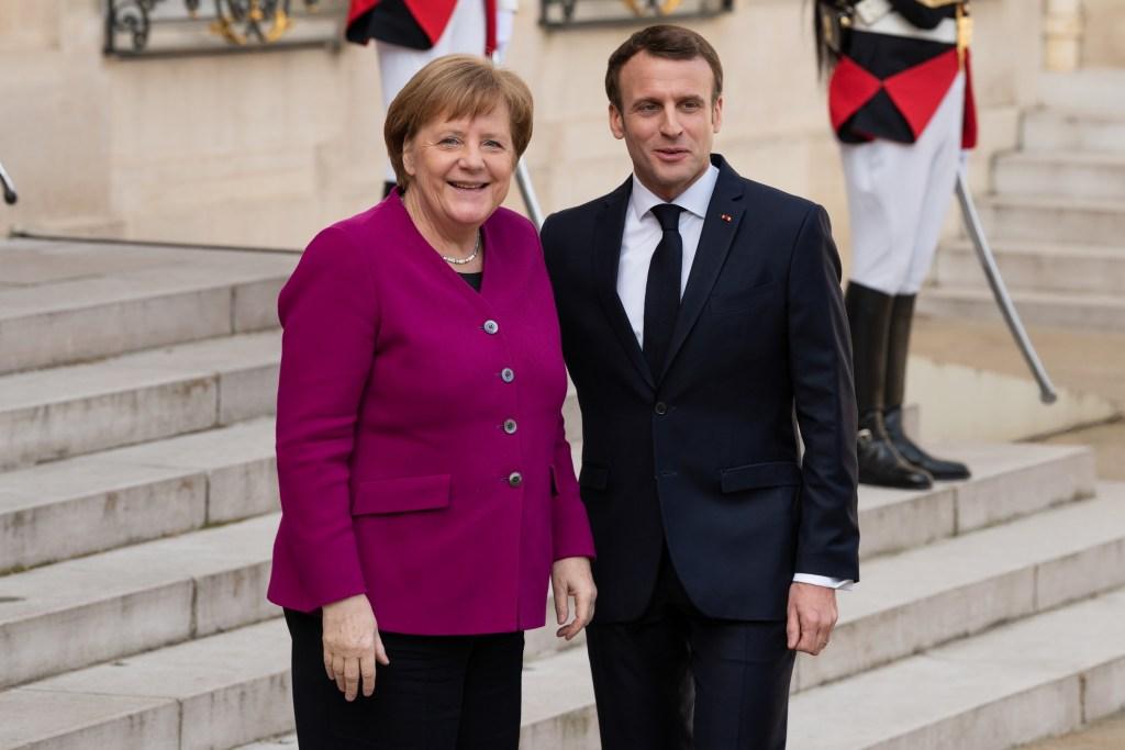 Angela Merkel & Emmanuel Macron