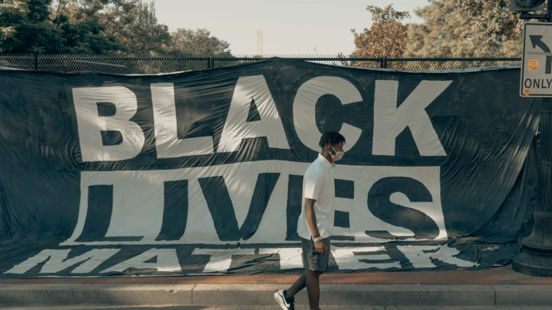 BLM protest banner