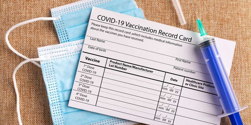 Proof of vaccination card