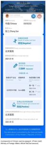 Chinese International Travel Health Certificate