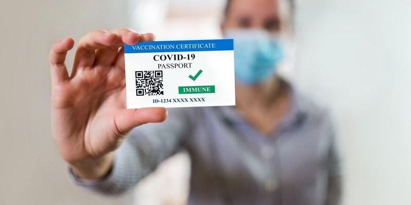Vaccine Certificate/Passport with QR Code