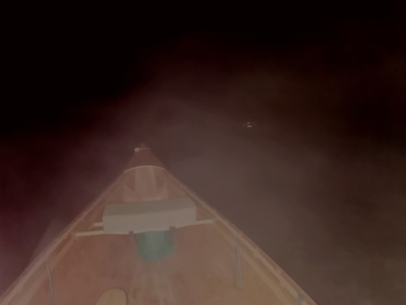 Night fishing in a Canoe