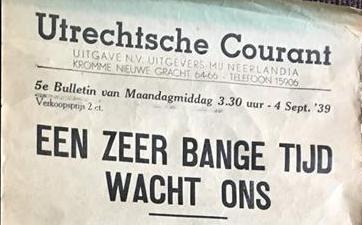 Muurkrant van 4 september 1939