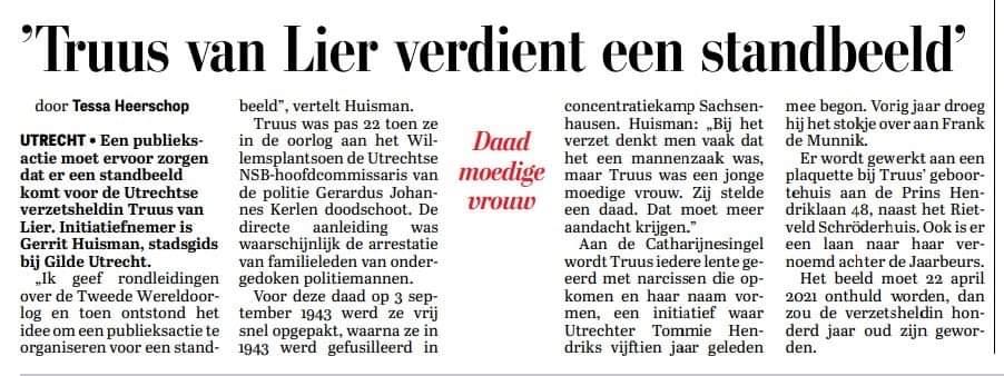 In de Telegraaf