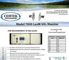 Cemtek Literature Model 7000 LasIR datasheet