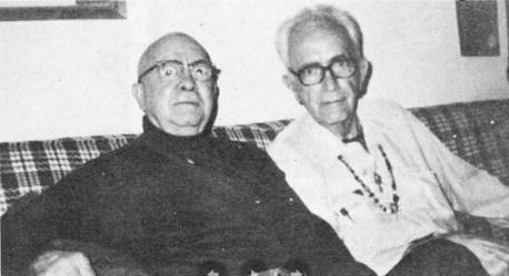 Гарри Отто Фишер (автор идеи Серого Мышелова и Фафхрда) и Фриц Лейбер, 1980 год