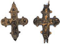 Крест-мощевик с изображением свв. бориса и Глеба