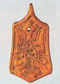 Золотая подвеска с родовым знаком Рюриковичей