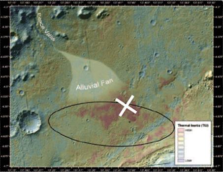 Карта района посадки