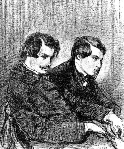Братья Гонкуры, литография Поля Гаварни 1853 год. Источник: Wikipedia