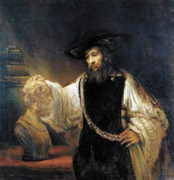 Рембрандт. Аристотель с бюстом Гомера. 1653 год