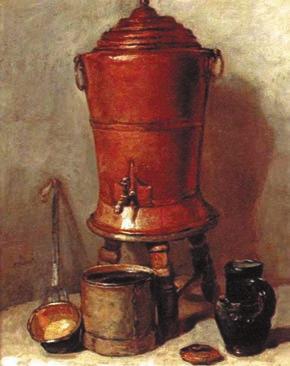 Медный бак для воды. 1734