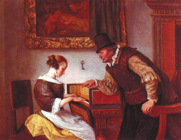 Урок игры на клавесине