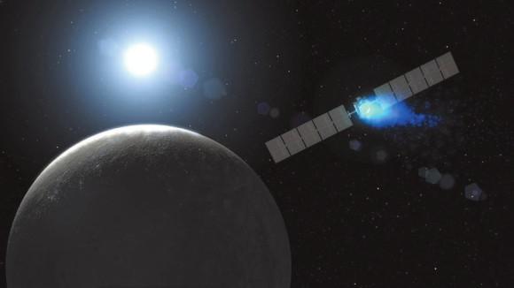 Прибытие Dawn к Церере — иллюстрация NASA