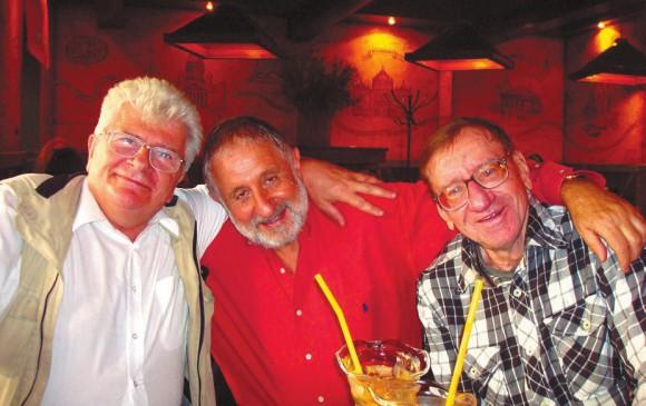 С Валентином Носкиным и Максимом Франк-Каменецким в Москве в октябре 2007 года
