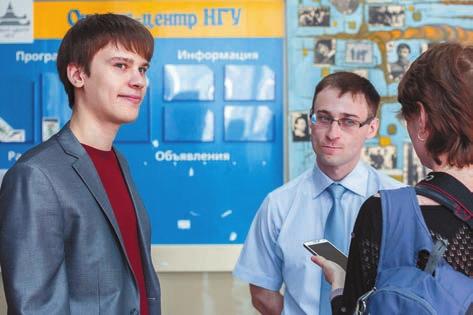 Организаторы «Контрольной суммы» дают комментарий для «Троицкого варианта». Фото С. Ковалёва