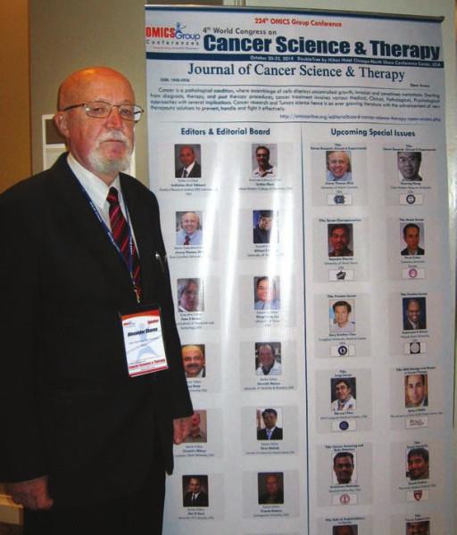 Проф. А. Г. Шавва на IV Международном конгрессе Cancer Science & Therapy. Чикаго (США)
