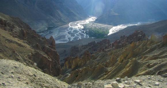 Долина Спити между селениями Табо и Каза. 9 июня 2015 года
