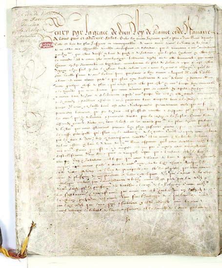 Нантский эдикт. Редакция документа, представленная в парламент Парижа в феврале 1599 года.  Национальный архив Франции