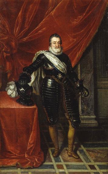 Франс Пурбус Младший. Портрет Генриха Наваррского в доспехах. 1610 год. Лувр, Париж