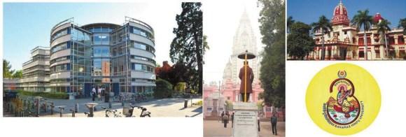 Слева: факультет богословия, Кембридж. Справа: Бенаресский индуистский университет