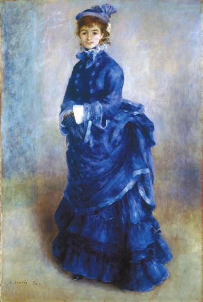 Огюст Ренуар. Парижанка (1874). Национальный музей Кардиффа (Великобритания)