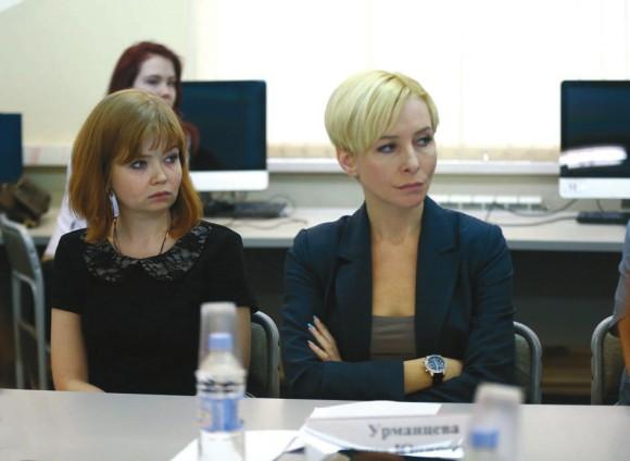 Маргарита Москалева и Анна Урманцева. Фото Г. Никанорова с сайта http://sciencemedialab.ru